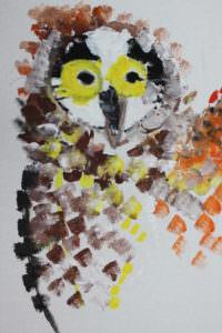 geschilderde vogel
