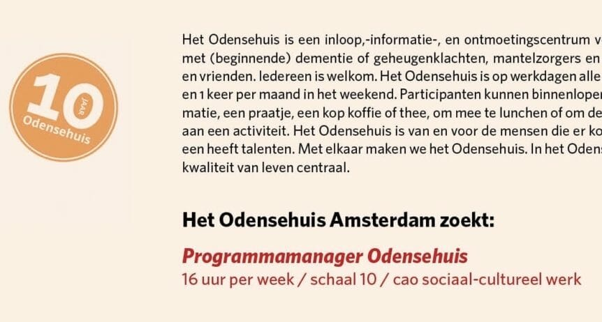 introductie vacature programma manager